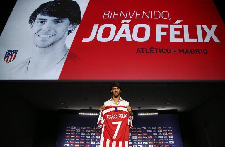 João Félix apresentado em Madrid como reforço do Atlético e do fisco espanhol