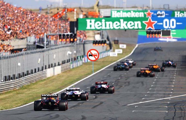 GP da Holanda: F1 vai testar este fim-de-semana o sinal de proibição de ultrapassagem